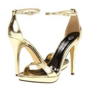 Michael Antonio Lovina Gold Platform Sandal